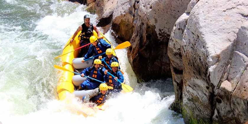Rafting río Chili Arequipa